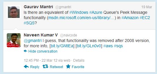 Comparing Windows Azure Queue Service and Amazon Simple Queue