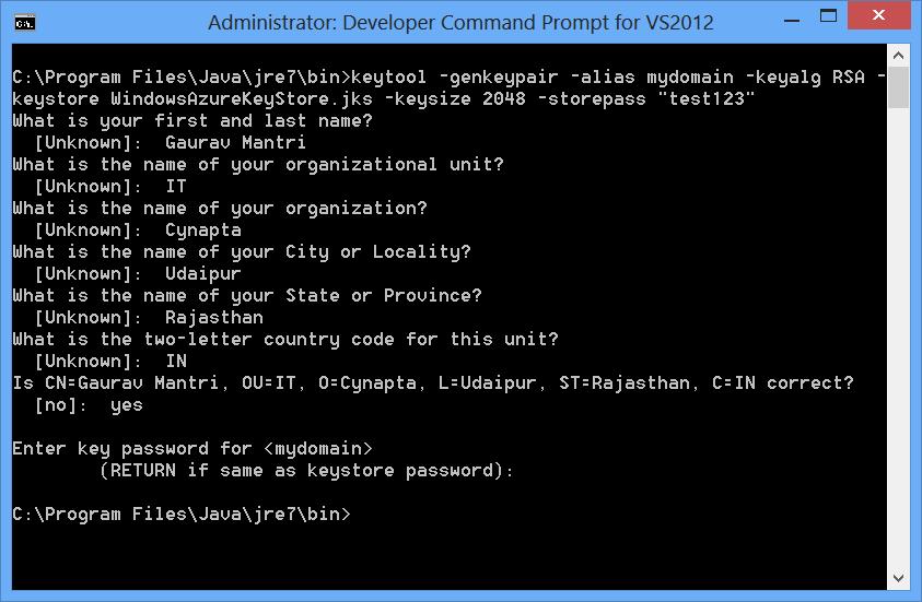 Consuming Windows Azure Service Management API In Java